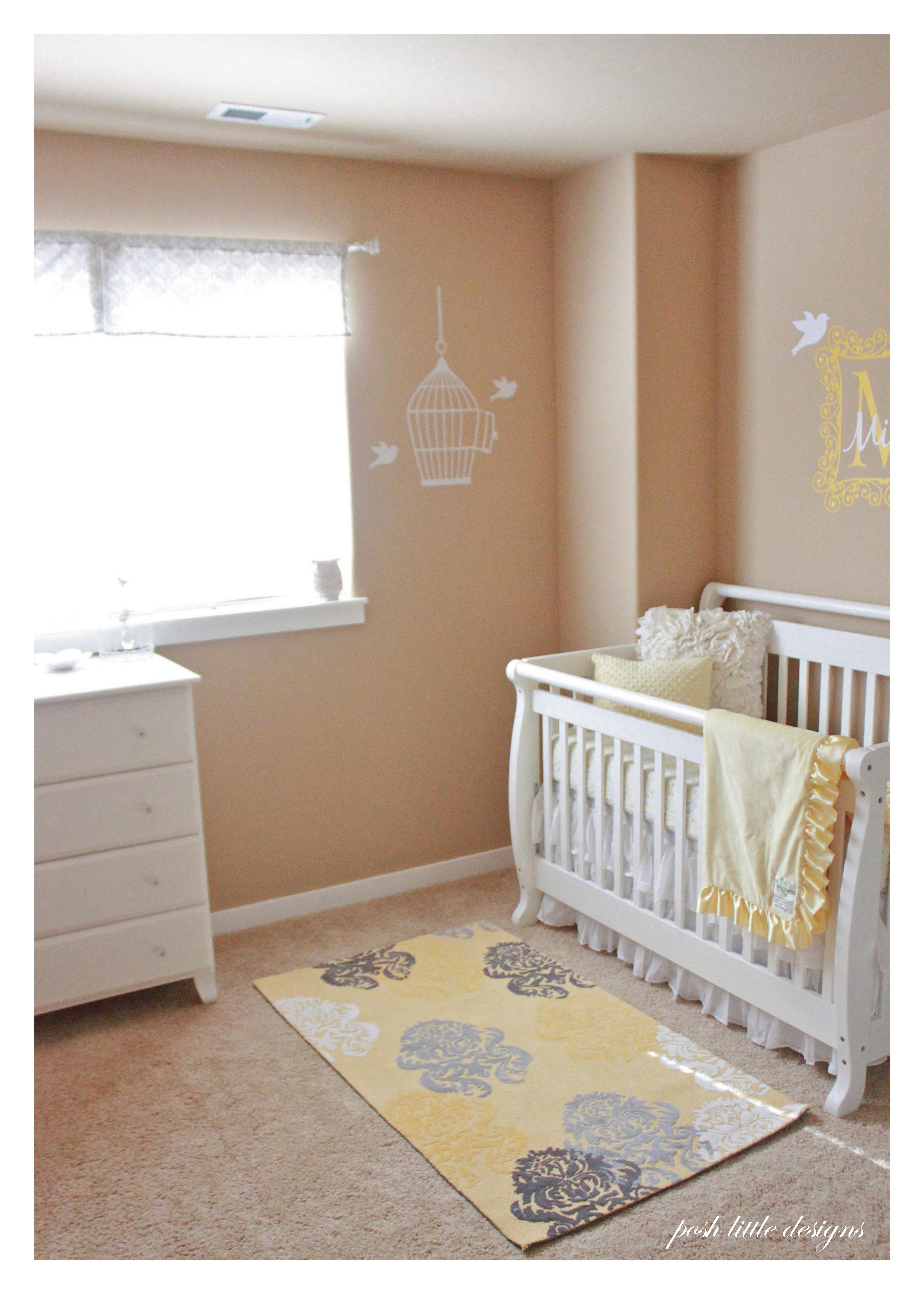 Baby Mila S Nursery Yellow Amp Gray Posh Little Designs