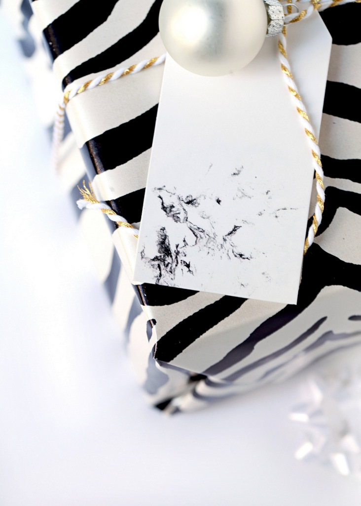Diy Marble Gift Tags Posh Little Designs