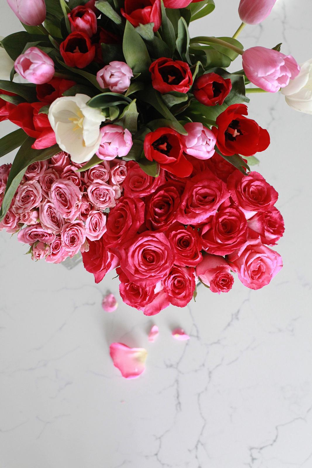 Spring flowers, posh blooms, valentine