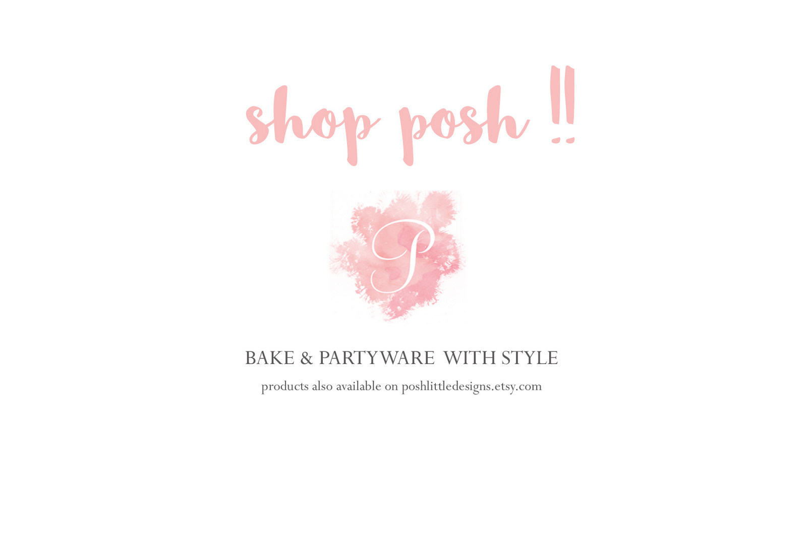 shop, bake & party, posh little designs