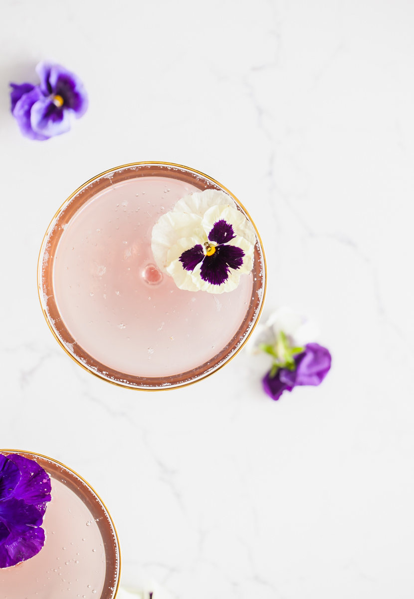 Champagne cocktails - French Cocktails- Creme de Violette - Recipes